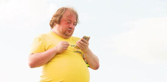otyły mężczyzna